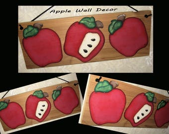 Apple Kitchen Decor,Apple Kitchens,Wood Apples,Unique Gifts,Apples,Apple Lover Decor,Kitchen Wall Signs,Gifts For Mom,Apple Collectors,Gifts