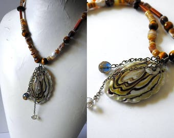 Mixed Stone and Glass Necklace