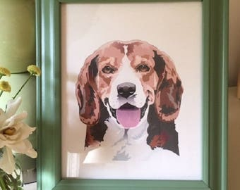 Beagle Print, Dog Lover Gift, Animal Print, Dog Art