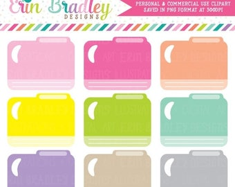 80% OFF SALE File Folders Clipart Graphics Office School or Supply Clip Art