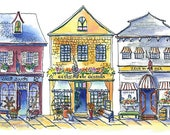 3 Coastal Town Storefronts Digital High resolution