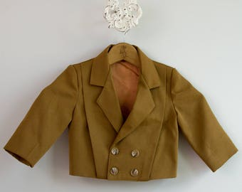 Kid's or Baby's 1960s-1970s Double Breasted Blazer Jacket • Size 24mo