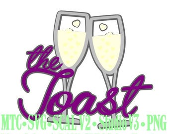 Wedding The Toast #01 Cut Files MTC SVG SCAL Format and more traceable