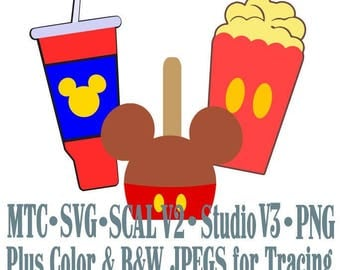 Amusement Park Embellishment Mouse Treats #04 Digital ScAL MTC SvG Cut Files JPEG PNG
