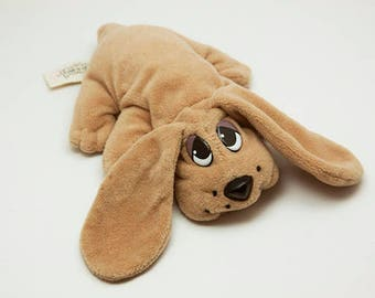Vintage Brown Pound Puppy 1995 Lewis Galoob Toys Polyester Fiber Plush Dog