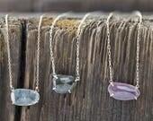 Custom Natural Rose-Cut Sapphire Necklace