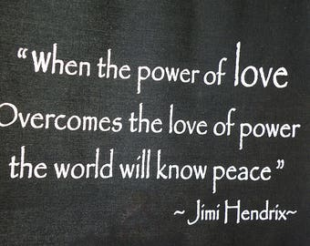 JIMI HENDRIX Quote Wall Hanging The Power of Love
