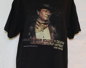 vintage JOHN WAYNE T-Shirt, Men's Medium, 1980's