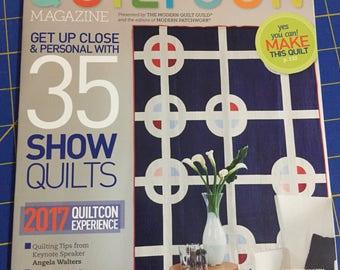 Quiltcon Magazine 2017, Modern quilting Applique Quilt pattern,  quilting, destash