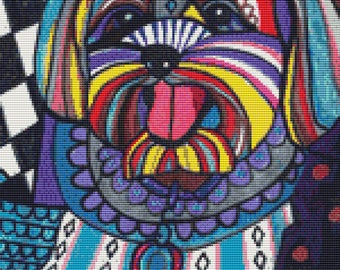 Modern Cross Stitch Kit 'Yorkipoo' By Heather Galler - Dog crossstitch