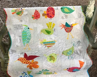 Happy Tweets Bird Quilt