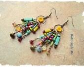 Boho Colorful Fun Earrings, Bohemian Dangle Earrings, Boho Fashion, Boho Style Me, Kaye Kraus