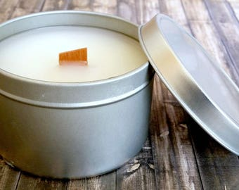 Pumpkin Crunch Pie - Soy Candle - Handmade - 5.7 oz. - Free Shipping - Tin Soy Candle - Fall - Autumn - Pumpkin Soy Candle - Soy Wax - Scent