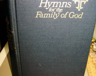Craft Supplies Hymn Book, Hymns For The Family of God Hymnal Scripture Readings Music Hymns Gospel Songs Paper Ephemera Hymn Book Pages