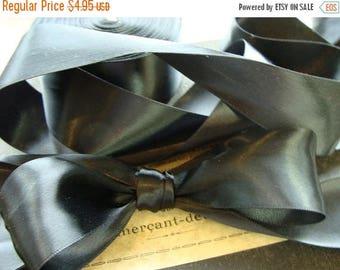 ONSALE Gorgeous High Quality Vintage Black Silk Ribbon Yardage
