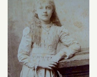 ONSALE Adorable Cabinet Photo Pretty Young Girl