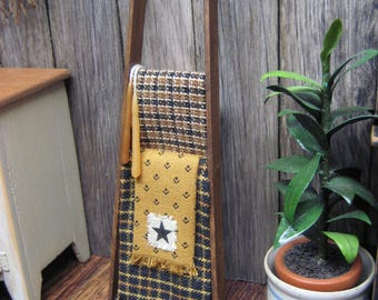 Primitive LADDER Country Dollhouse Miniature and Blankets STAR Design