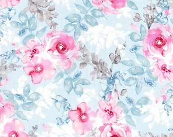 Kathy Davis Floral Bouquet Premium Cotton Fabric by the yard and by the half yard