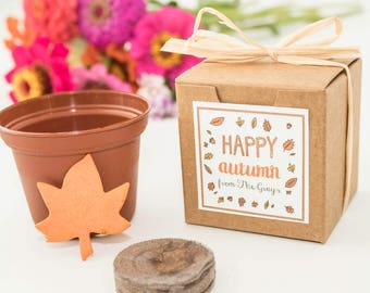 Personalized Thanksgiving Gift Ideas for Teachers, Employees, Customer Appreciation & Add Ons, Fall Wedding Favors, or Autumn Party Favors
