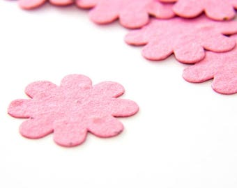 200 Pink Seed Paper Flower Confetti diy wedding favors, place cards, save the date cards creative invitations by Nature Favors