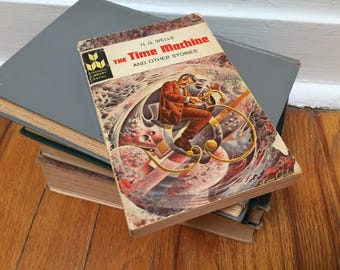 H. G. Wells The Time Machine and Other Short Stories Vintage Book Paperback Fiction