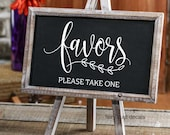 Favors Decal, Wedding Gift Table, Favors Sticker, Make Your Own Sign, Rustic Farmhouse, Handwritten Script Letters, Sign Decal, Chalkboard