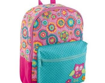 Personalized Stephen Joseph Owl Rucksack Backpack Diaperbag NEW