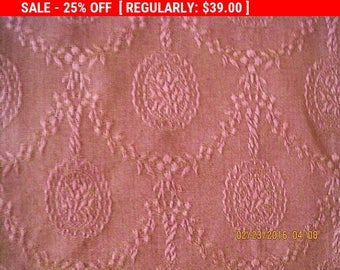 Antique French Damask Fabric Silk Pillow