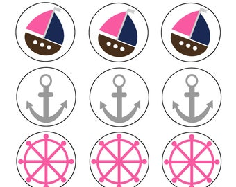 15 Printable Nautical Girl Cupcake Toppers!
