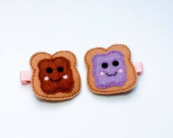 Peanut Butter and Jelly Feltie Clips