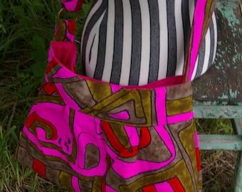 Tiffany's  Hip Bag - Hot Pink Abstract