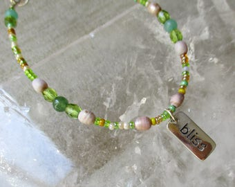 Follow Your Bliss Bracelet with Green Aventurine Now On Sale, Save 50%