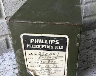 Vintage Prescription File Box