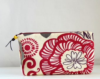 Razzle Orchid Wide Padded Zipper Pouch Gadget Case Cosmetics Bag - READY TO SHIP