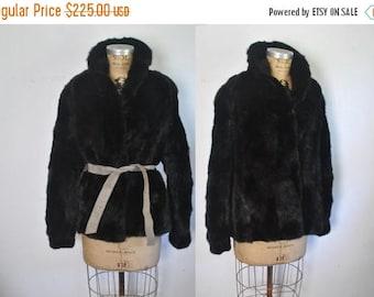 SALE Black Mink Jacket / genine fur Coat / S-M