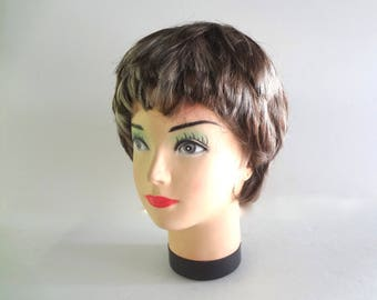 Female Mannequin Head With Wig Plastic About 12 Inches Tall X About 7 Inches Wide Good Condition Hair Styling Hat Model Jewelry Display