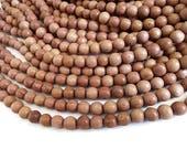 Perles rondes en bois de rose naturel 4, 6, 8 ou 10mm