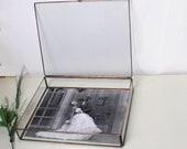 "8"" x 10"" Wedding Photo Box / Clear Glass 8"" x 10""  Proof Box / Photographer Package / Jewelry Box /Wedding Gift"