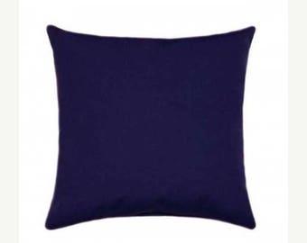 Blue Outdoor Pillow, Sunbrella Canvas Navy Outdoor Pillow, Blue Sunbrella Throw Pillow, Navy Blue Sunbrella Cushion Free Shipping, 5439-000