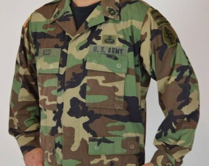 sale Green Beret Shirt, Special Forces Shirt, Ranger Airborne Master Sargent, Men's Vintage Shirt, Military Shirt, Camouflage Shirt, Vietnam