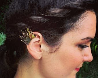 Double flame ear cuff