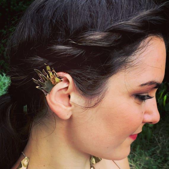 Double flame ear cuff
