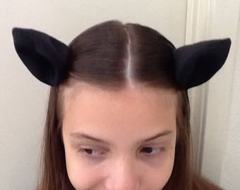 Clip on Black Cat Ears