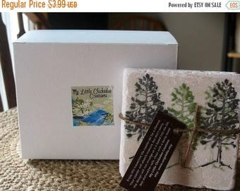 XMASINJULYSale Gift Wrapping for a Set of Tile Coasters