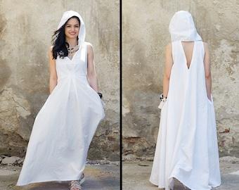 Boho Wedding Dress, Beach Wedding Dress, Linen Kaftan Dress, White Kaftan, Maxi Kaftan, Beach Dress, Kaftan Maxi Dress, Long Kaftan Dress