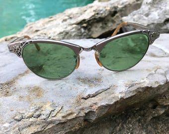 Vintage 50s Cat Eye Sunglasses ARTCRAFT 51/4
