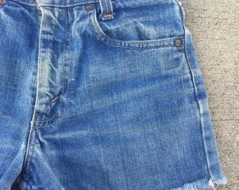 40% OFF CLEARANCE SALE The Vintage Levi Strauss Rancher Blue Shorts Waist 25