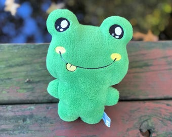 Frog Stuffed Animal - Handmade - Plush Froggie- Baby Pig - Kawaii - Gift for Kids - Toddler Gift - Personalized - Christmas Gift