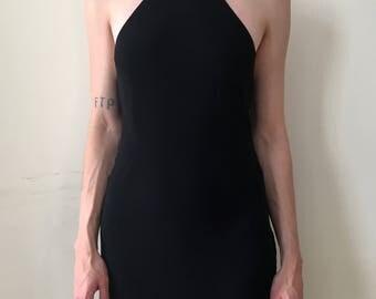 Halter Neck Black Gown