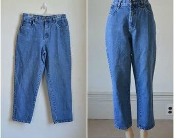 90s High Waist Jeans Mom Jeans Bill Blass Blue Jeans - 10P - 31 inch waist